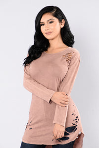 Wreck My Heart Top - Mauve