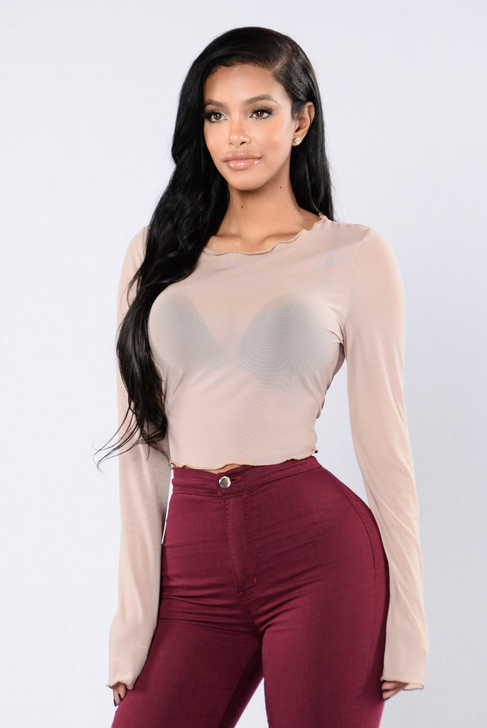 Catch My Wave Top - Nude