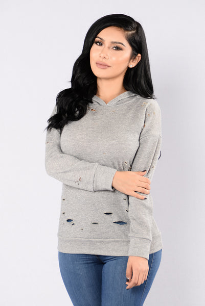Stressed and Well Dressed Tunic - Heather Grey