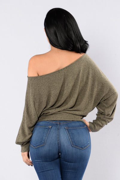 Side Track Sweater - Olive