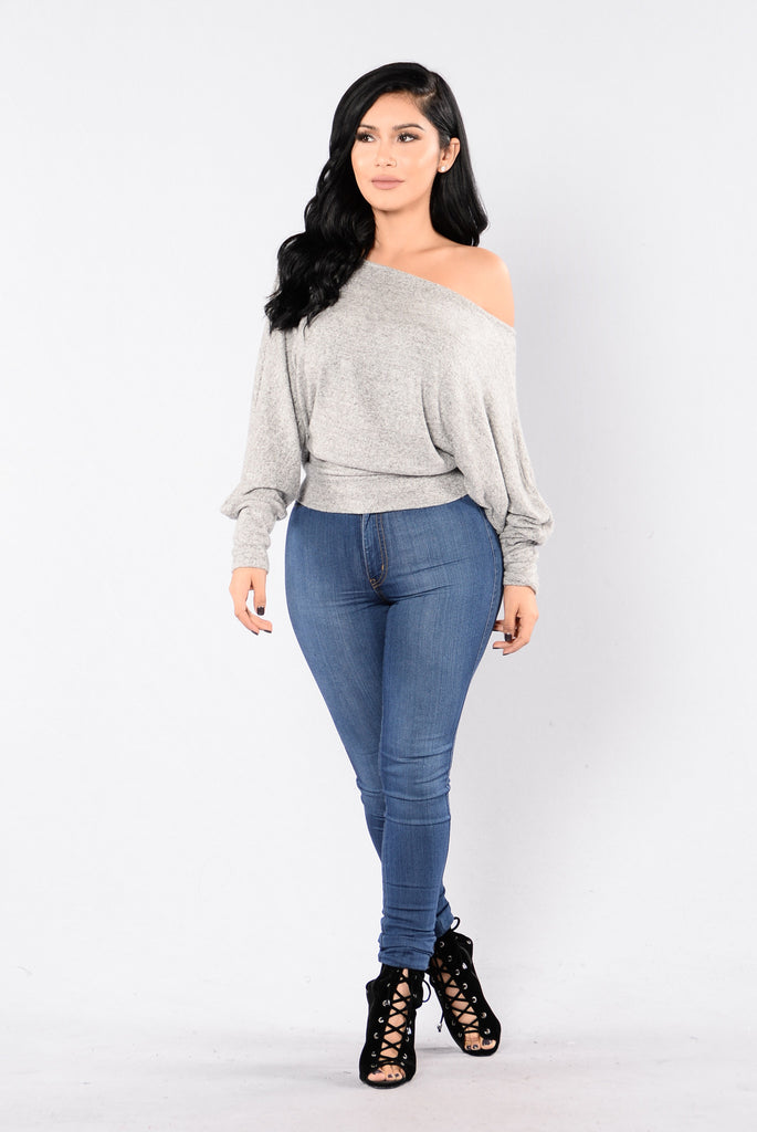 Side Track Sweater - Heather Grey