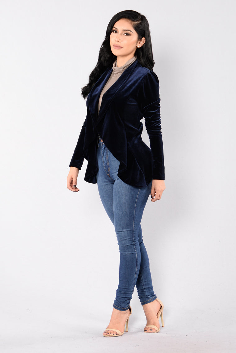 Broken Heart Blazer - Navy