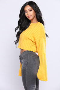 Bessie Ribbed Sweater - Mustard