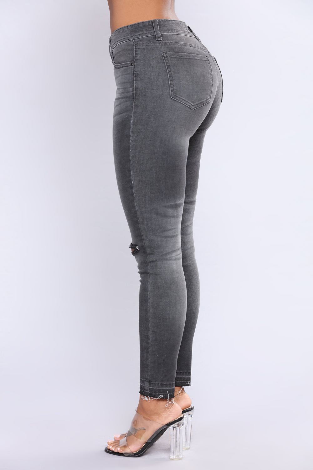Fleeting Moment Skinny Jeans - Grey