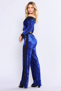 Just Relax Crushed Velvet Set - Royal