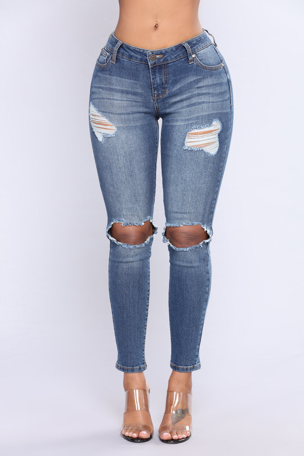 Get It Right Back Ankle Jeans - Medium Blue Wash