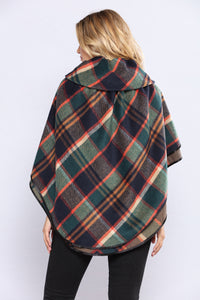 My Plaid Fleece Ponch - Green