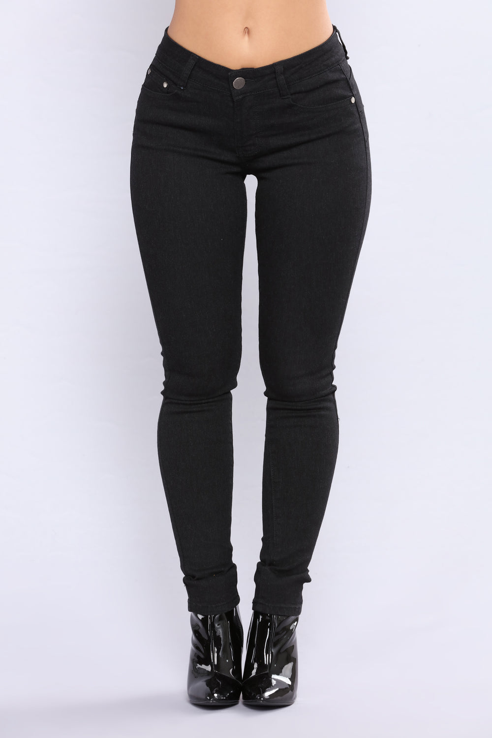 Do You Lift High Rise Jeans - Black
