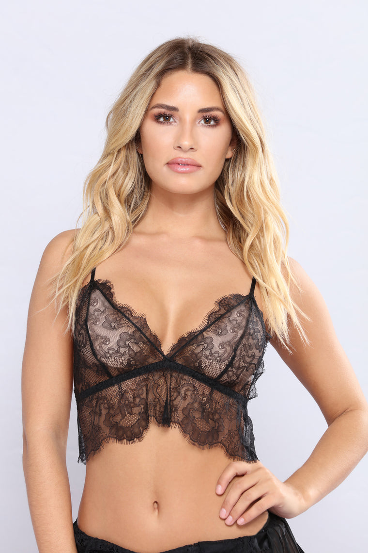 Nothing But Lace Top - Black