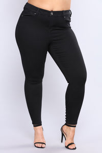 You Know What Lace Up Jeans - Black