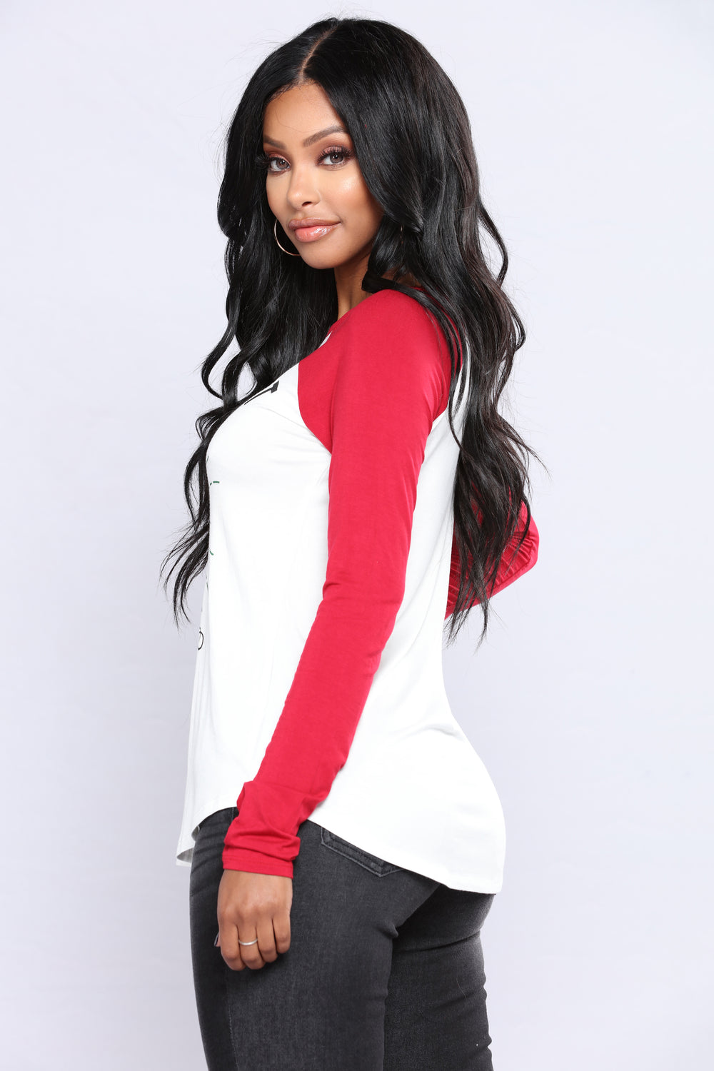 Lets Get Lit Holiday Sweater Top - Red