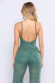 Forest Falls Lace Jumpsuit - Green