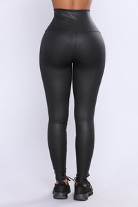 Second Nature Glitter Active Leggings - Black