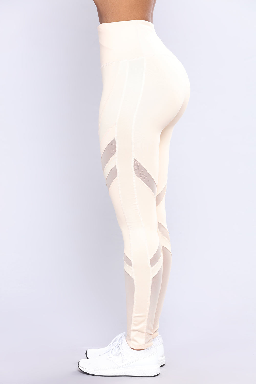 Don't Mesh With Me Active Leggings - Nude