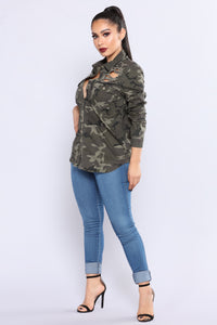 In The Lead Camo Top - Camouflage
