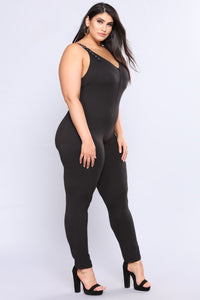 Super Sass Buckle Jumpsuit - Black Angle 8