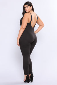 Super Sass Buckle Jumpsuit - Black Angle 9