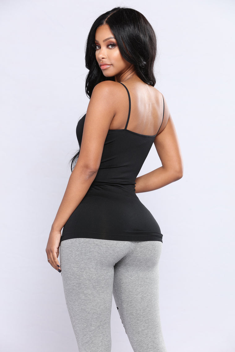 Seamless Cami Top - Black