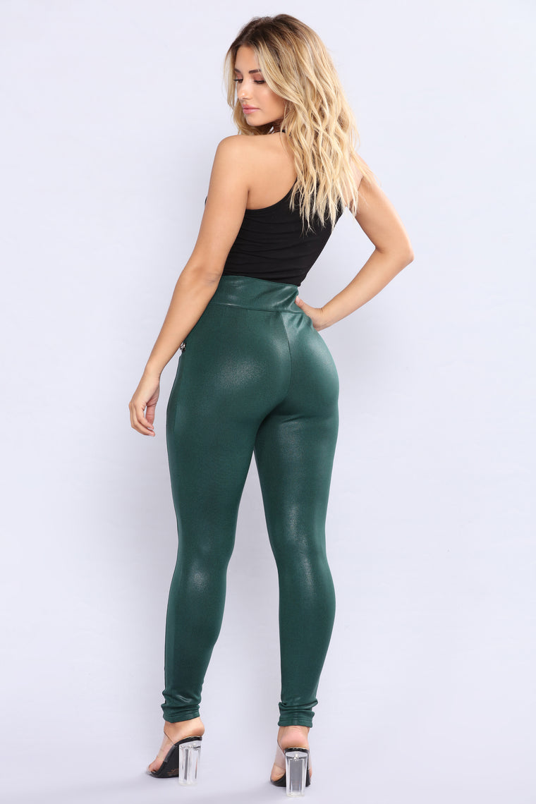 Kenzie Zipper Pants - Hunter Green