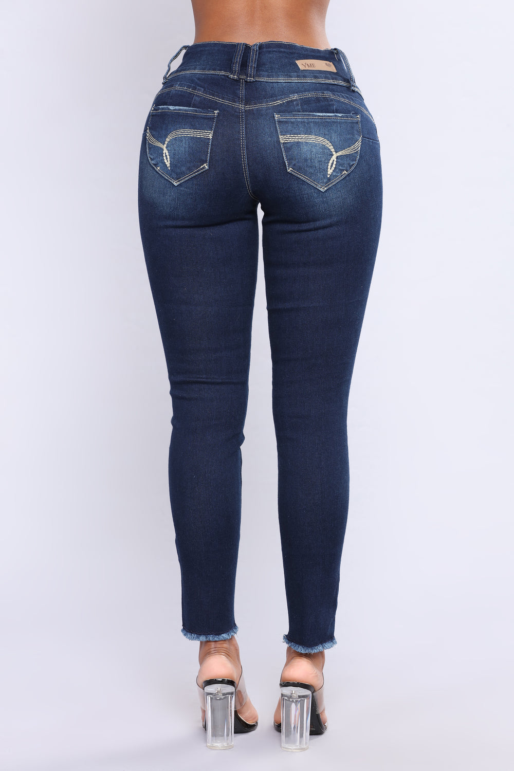 She Got A Donk Booty Lifting Jeans - Dark Denim