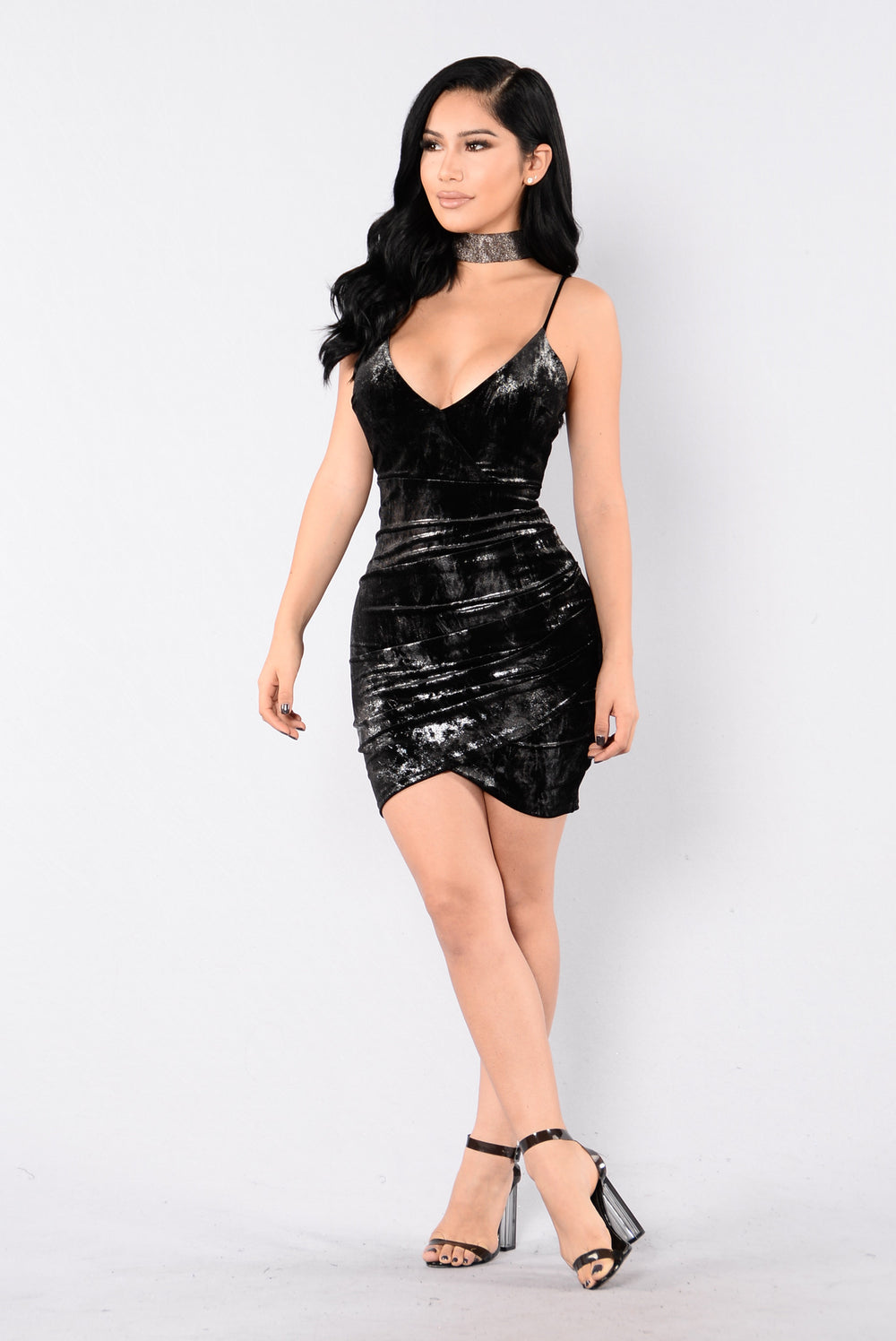 Can't Hold Me Down Dress - Black/Silver