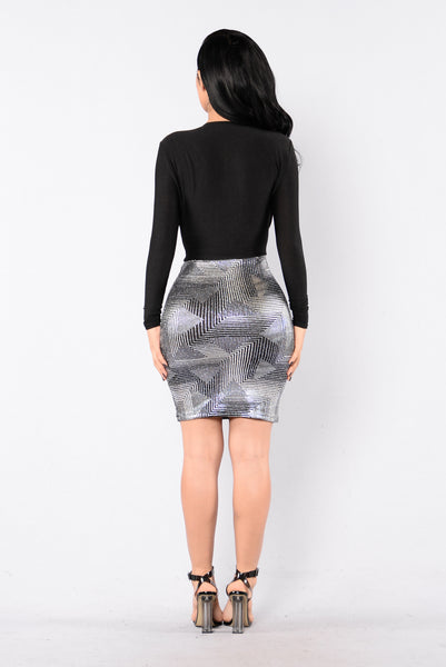 Conqueror Dress - Silver/Black
