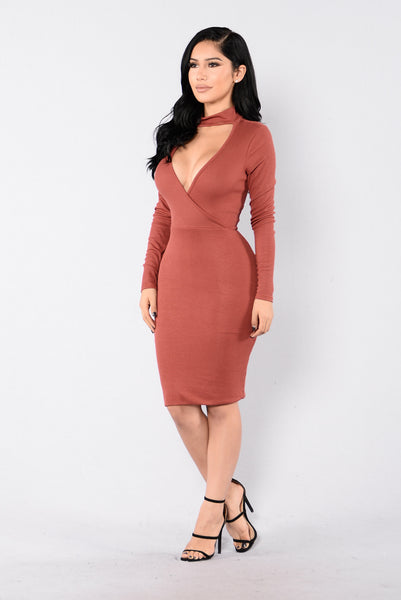 Sweetheart Dress - Marsala