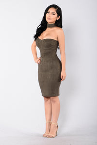 That Girl For Real Dress - Olive