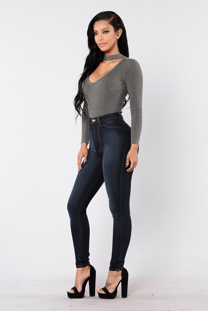 Lexy Bodysuit - Oxford Grey