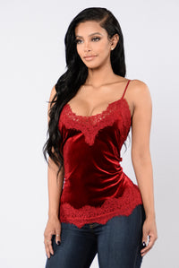 New Romantics Top - Burgundy