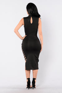 Drinks On Me Bandage Dress - Black