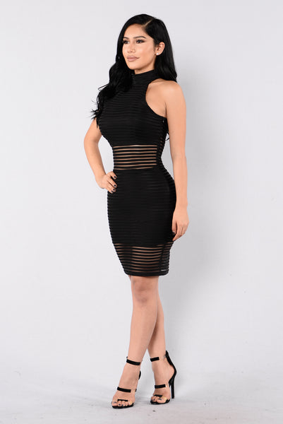 Shudder Dress - Black