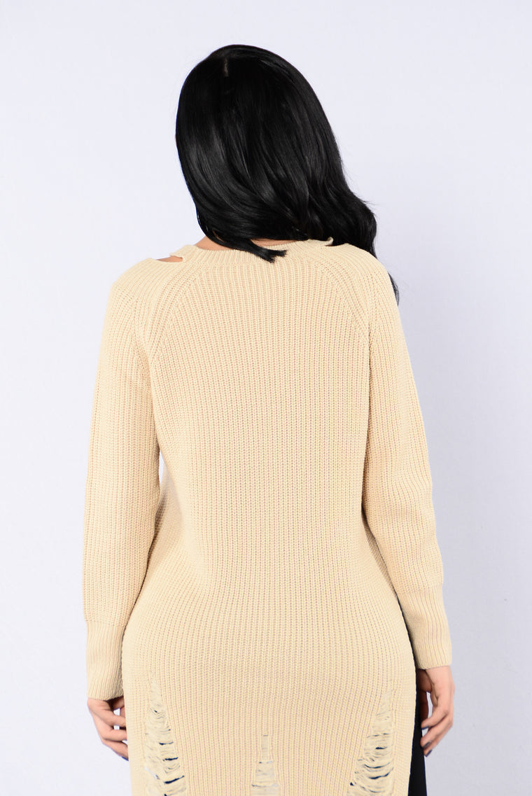 Lazy Jane Sweater - Taupe