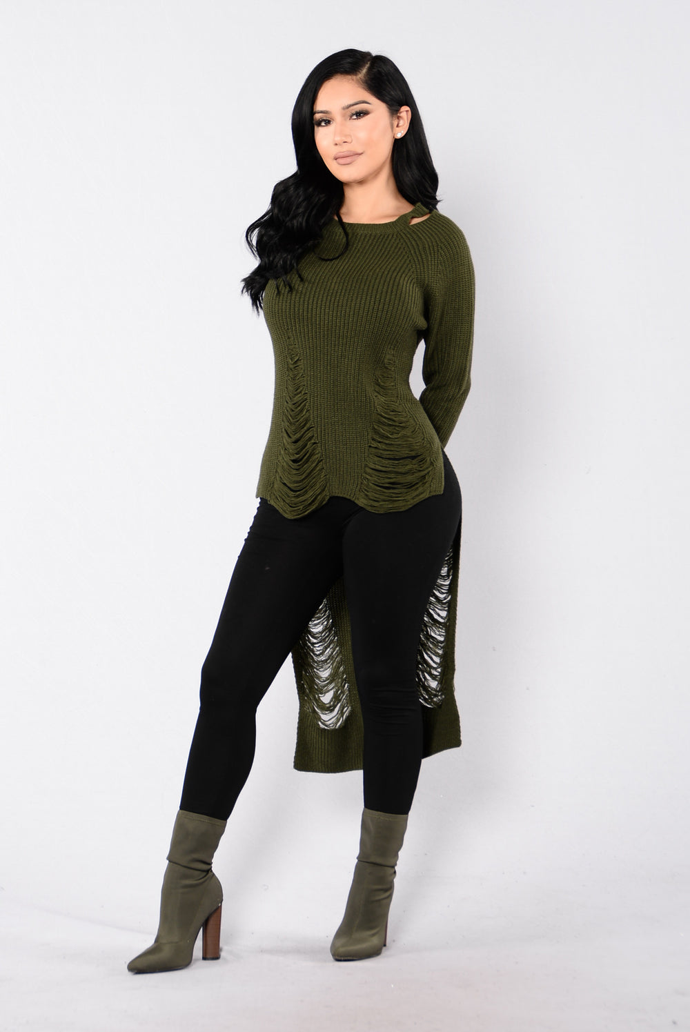 Lazy Jane Sweater - Olive
