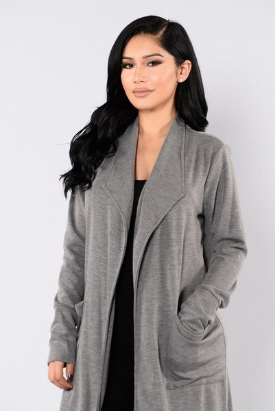 Drape Shape Duster - Grey