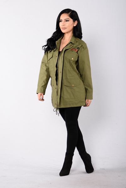 Make Up Jacket - Olive