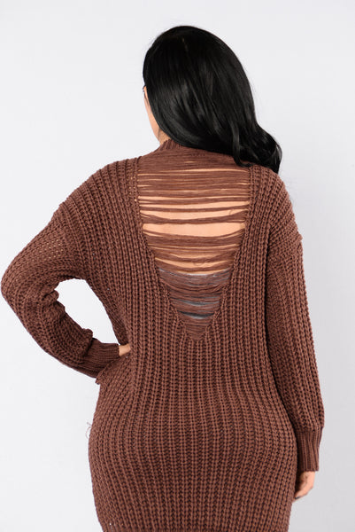 Unwind Sweater - Red Brown