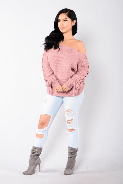 Hold It Down Sweater - Mauve
