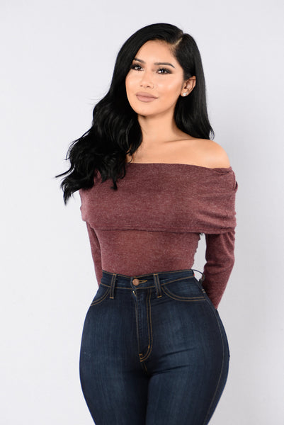 Over It Bodysuit - Burgundy