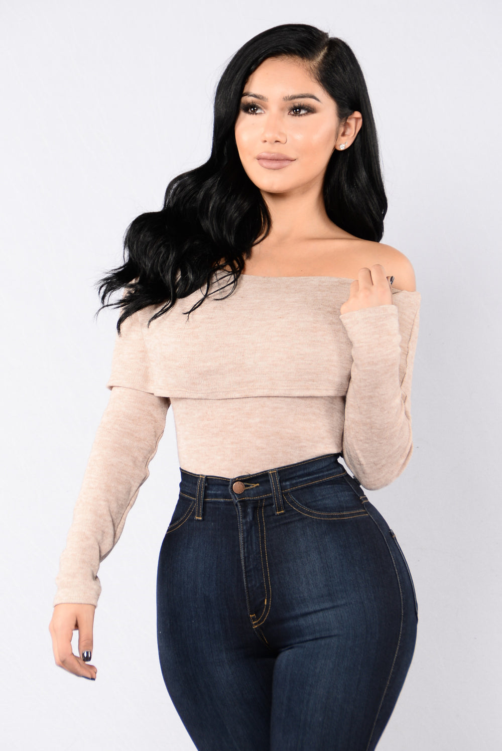 Over It Bodysuit - Taupe
