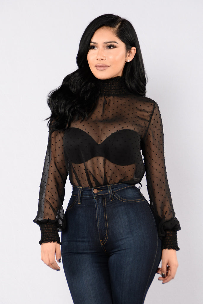 Milk And Cookies Bodysuit - Black