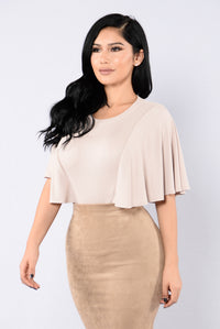 Shoulder Shrug Bodysuit - Coco