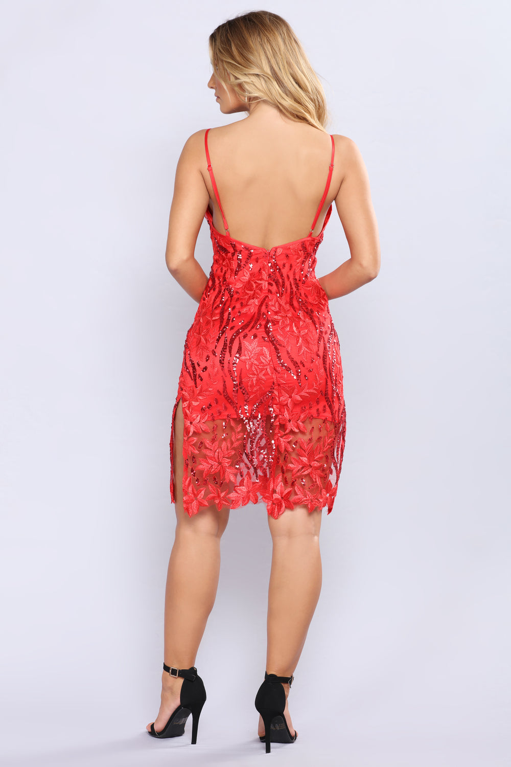Sequin Me Out Dress - Red