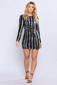Rome Sequin Dress - Silver