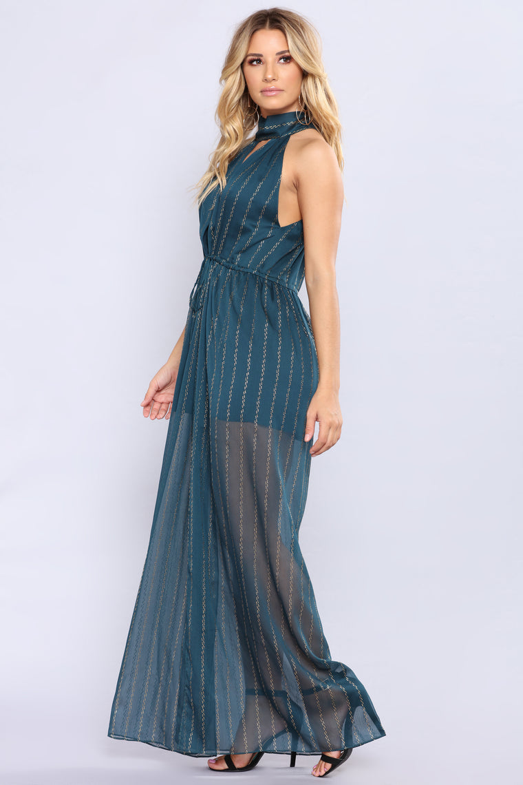 Out In The Terrace Maxi Dress - Green