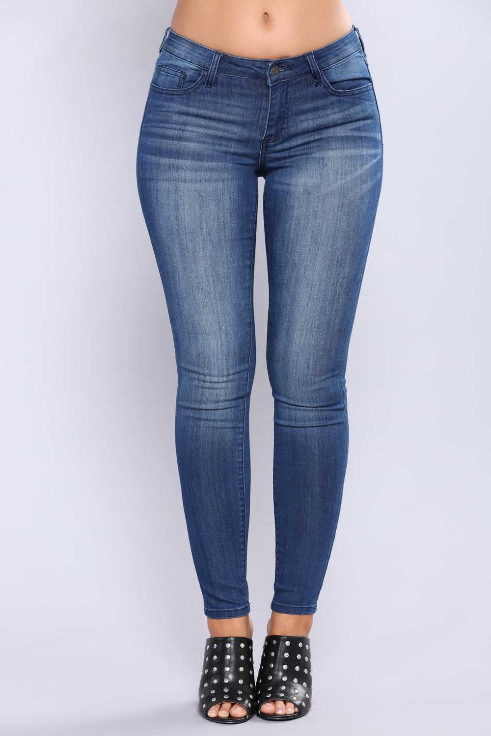Marcelina Skinny Jeans - Dark Denim