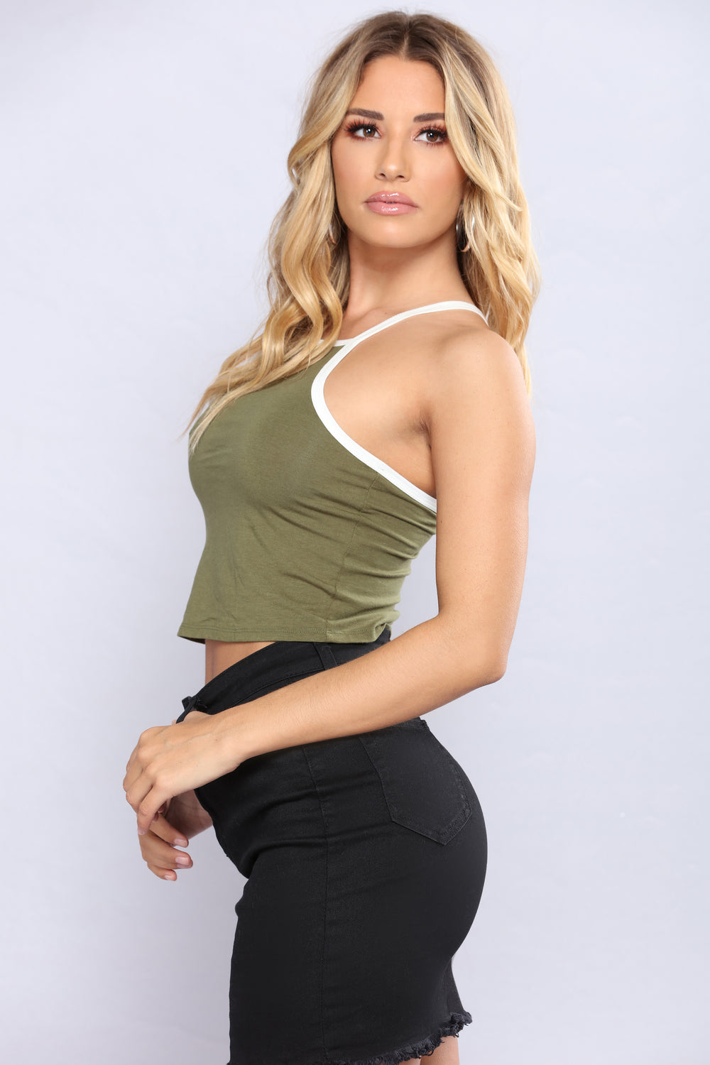 Got It If You Want It Crop Top - Olive