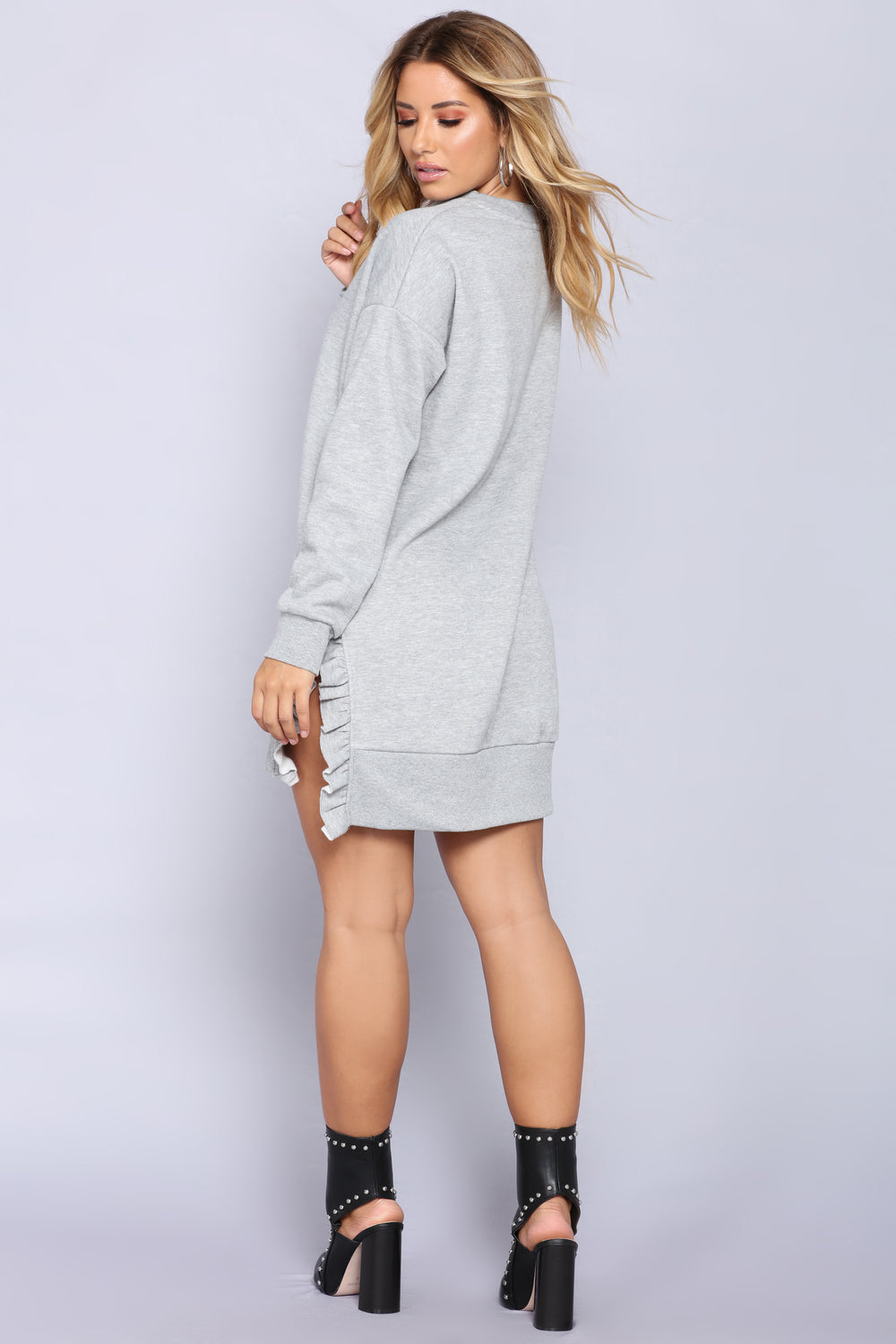 Nala Ruffle Tunic - Heather Grey