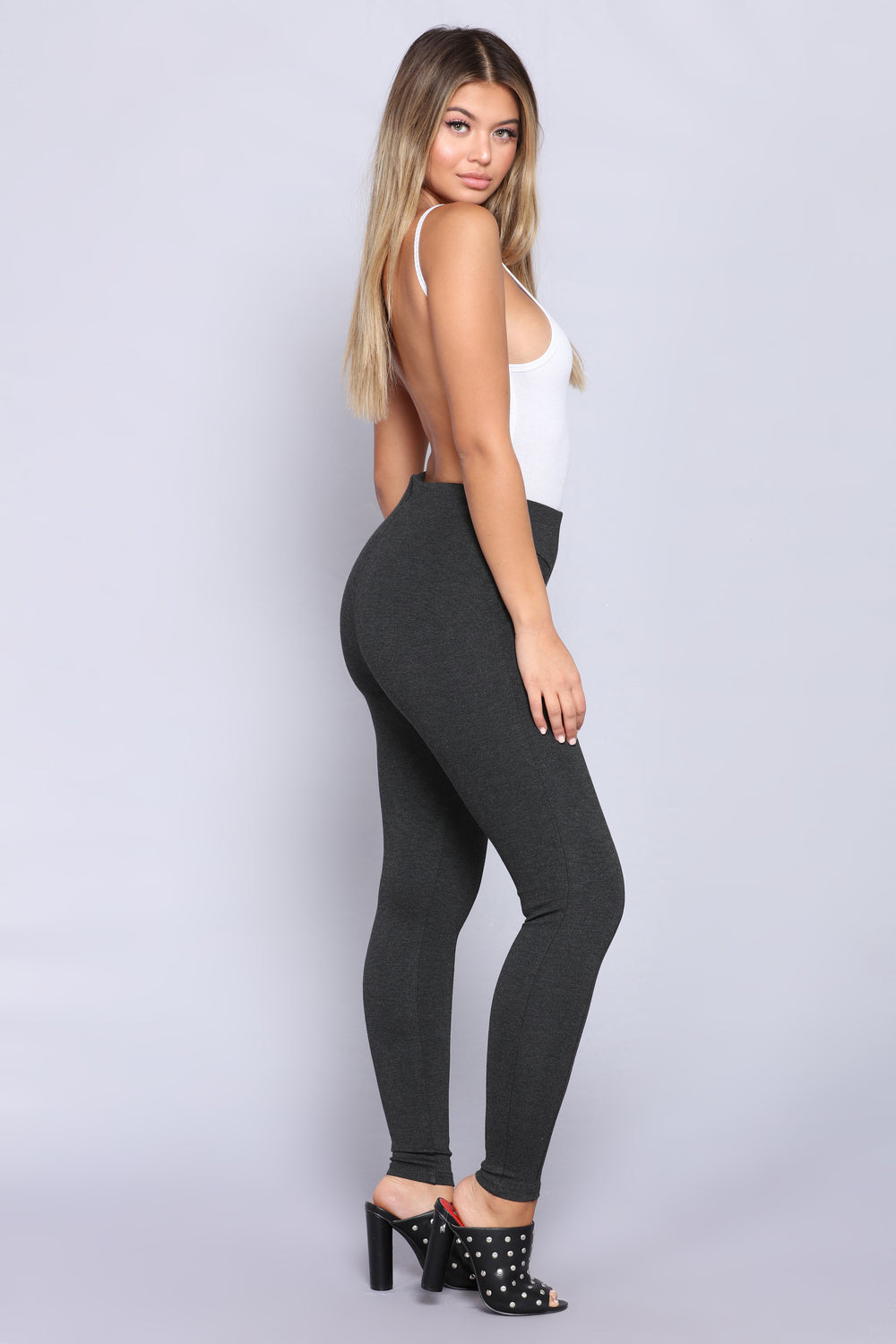 Classic Compression Ponte Leggings - Charcoal