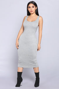 Penny Midi Dress - H.Grey Angle 1